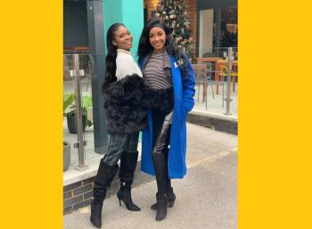 Miss World BVI Rikkiya A.R. Brathwaite, left, and Miss World USVI Ayanna H. Phillips, right, meet up in London, United Kingdom, for the 69th edition of the Miss World pageant. Photo: Facebook