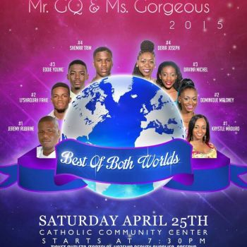 The buzz is at the Catholic Community Centre in Valley, Virgin Gorda this evening, April 25, 2015 when the 2015 Mr GQ & Miss Gorgeous pageant is held. Photo: Provided