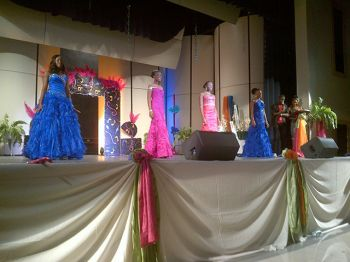 Ms Teen BVI contestants on stage during the pageant held on October 6, 2012. Photo:VINO