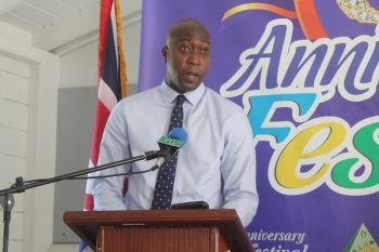 Minister for Education and Culture Honourable Myron V. Walwyn on January 21, 2014 announced the decision for the activity to be held at the Stickett. Photo: VINO/File