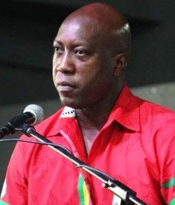 Minister for Education and Culture, Honourable Myron V. Walwyn (AL). Photo: VINO/File