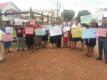 Teachers from Mabaruma in Guyana's hinterland also vent their frustration during the countrywide strike action. Photo: Internet Source