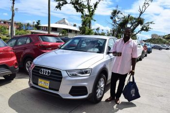 Jacob Edwards receives his Audi Q3 purchased during TAG's Sweet Heart Deals promotion in February. Photo: Provided