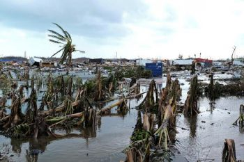 Following a vicious onslaught from Hurricane Dorian on September 1, 2019, areas in the country including Abaco Island, were severely hit with several families being displaced from their homes and contamination of potable water facilities. Photo: Internet Source