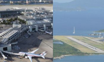 BVI Airways has promised direct flights between Miami, Florida International Airport (left) and the Virgin Islands' Terrance B. Lettsome International Airport (right) located at Beef Island. Photo: Internet Source/VINO