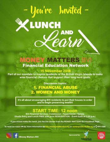 Lunch and Learn: A financial literacy discussion. Photo: GIS