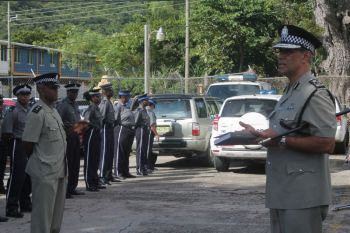 David Morris (right) has had a rocky tenure as Commissioner of Police in the Royal Virgin Islands Police Force (RVIPF). The constabulary has been rocked with a long list of lawsuits against Morris over violation of police officers rights, and issues of fairness and not following the law when dealing with both police officers and the public. Photo: VINO/File