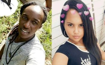 Ms Maybelline Rodriquez, 21, right, has been charged by the Royal Virgin Islands Police Force (RVIPF) for the murder of 26 year old Trumayne J. Daway aka 'Passion', left. Photo: Team of Reporters