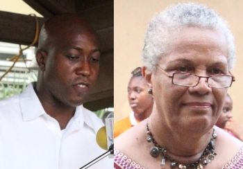 A senior civil servant with 28 years of service with the Government has claimed that the Minister for Education and Culture Honourable Myron V. Walwyn (left) will have to endorse the confirmation of Patrick O. Harrigan to his post. The officer, who spoke to this news site, warned not to listen to Government ministers claiming they have nothing to do with the civil service as it's not true. Mrs. V. Inez Archibald will have to also sign off on the confirmation of Mrs Michelle Donovan-Stevens who has been Acting as the Director of Human Resources for 3 years plus. It remains unclear why the officer has not been confirmed to the post. Photo: VINO/File