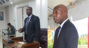 Left: The ruling National Democratic Party (NDP) Government has a history of misleading the HoA, hence the people, in answers to questions asked, according to Opposition Leader Honourable Andrew A. Fahie (R1). Right: Minister for Education and Culture Hon Myron V. Walwyn (AL) described those who exercise their democratic rights and opinions to speak out on the education system as 'lairs and wicked set of people.' Photo: VINO/File