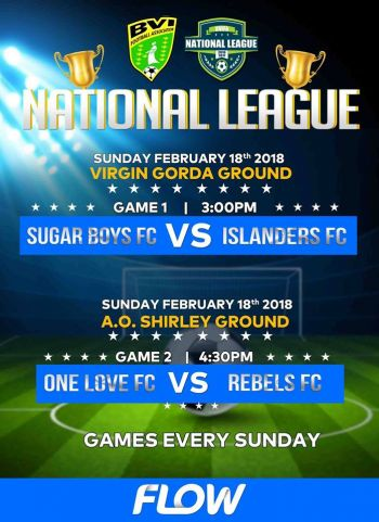 The fixture for the opening day's play of the BVI Football Association's National League. Photo: Facebook
