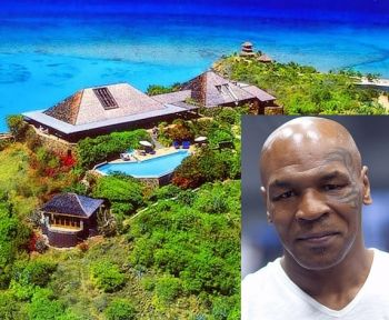 Former world heavyweight champion Mike Tyson (inset) is said to be heading to Necker Island. Photo: VINO/File
