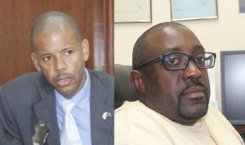 It is unclear when the substantive holder of the post of Financial Secretary, Mr Neil M. Smith (left), will return to office. Right: Former Financial Secretary L. Allen Wheatley was replaced by Mr Glenroy A. Forbes in 2002. Photo: VINO/File