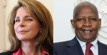Queen Noor Al-Hussein of Jordan (left) and Uganda Foreign Minister Sam K. Kutesa (right) were also discovered to have active interests in offshore banking. Photo: Internet Source