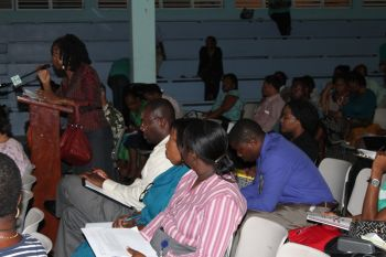 A section of the audience at the NPO meeting. Photo: VINO