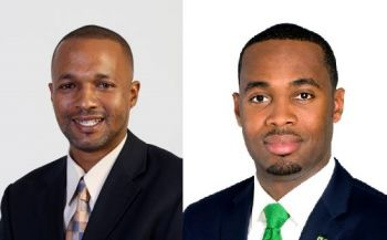 Left: Bermuda Progressive Labour Party (PLP) Leader Hon Marc A. Bean announced his retirement from politics in November 2016. Right: E. David Burt has since been elected new party boss. Photo: Internet Source