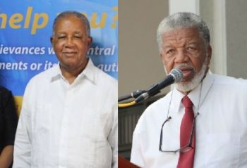 Former Complaints Commissioner Mr Elton Georges CMG OBE (left) and respected talk show host Doug Wheatley have both blasted the National Democratic Party (NDP) Government for not passing the Freedom of Information Bill. Photo: VINO/File