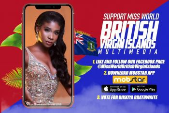 Residents of the Virgin Islands can follow and support Miss World BVI Rikkiya A.R. Brathwaite in London. Photo: Provided