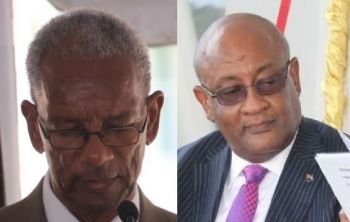Former legislator and NDP supporter Mrs Eileene L. Parsons OBE has suggested that Premier Dr The Hon D. Orlando Smith (left) is not doing a good job as the Finance Minister and has recommended that the ministry be given to Hon Ronnie W. Skelton (right), the current Minister for Health and Social Development. Photo: VINO/File