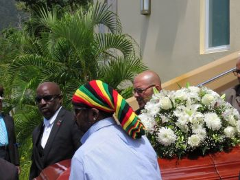 Representative for Devonshire East (Constituency 11) in Bermuda Hon Thomas C. Famous, (far left) as one of the pallbearers. Photo: Provided