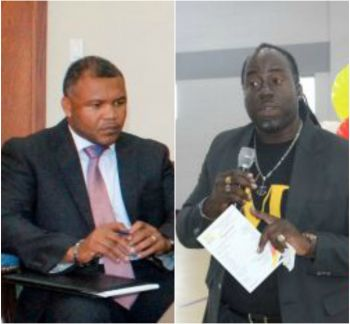 Mr Brodrick Penn (left), Chairman of the Disaster Recovery Coordination Committee (DRCC) and Dwayne J. Strawn will be brought to the House of Assembly (HoA) to make up the Recovery Agency Board. Photo: VINO/File