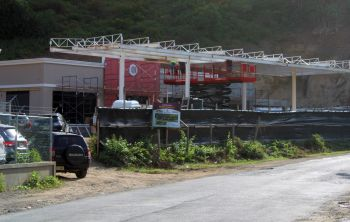 Petrus Plaza BVI, which will include a gas station, touchless drive-thru car wash and food court, will be employing some 30 locals in the first phase and some 55 to 65 persons when the entire project is completed. A soft opening is scheduled for the first half of December 2019. Photo: VINO
