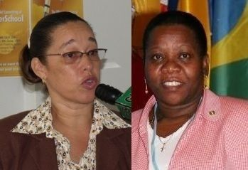 Many persons have used this as just one of well over 5 examples where a local has been forced out or displaced in favour of a non-national in the civil service since the National Democratic Party government came to power in 2011. Earlier this year former Permanent Secretary in the Ministry of Education and Culture Mrs Carolyn O'Neal-Morton (right) was forced out via retirement and replaced by a Jamaican National Dr. Marcia Potter who is married to a local. This move enjoyed the blessings and support of Education and Culture Minister Myron V. Walwyn. Photo: VINO/File/FB