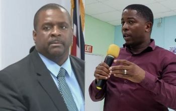 Second District Representative, Hon Melvin M. Turnbull, right, has said he will make it a priority to invite Premier and Minister of Finance, Honourable Andrew A. Fahie (R1), left, to hear the concerns of residents of the Second District. Photo: VINO/File