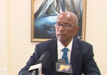 Premier and Minister of Finance Dr The Honourable D. Orlando Smith (AL), in photo, has acted based on the interest of his advisors, and not in the interest of the people who elected him, according to Third District Representative Hon Julian Fraser RA. Photo: VINO/File