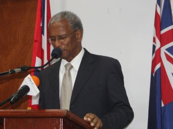 Premier of the Virgin Islands, Dr The Hon. D. Orlando Smith asserted at a press conference on September 18, 2013 that no artiste had approached him on the issue of non-payment for their performance during the Emancipation Festival. Photo: VINO/File