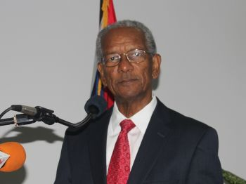 Premier Dr the Hon. D. Orlando Smith cited examples of instances where persons found guilty of having committed illegal acts and have served a sentence of three or more months are asked to leave the Territory. Photo: VINO/File