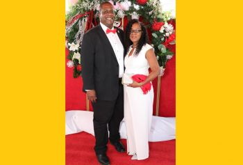 Premier and Minister of Finance, Honourable Andrew A. Fahie (R1) (also a family member) and First Lady Mrs Shelia E. Fahie–Forbes. Photo: Cecil Alex Jeffrey
