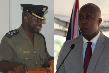 There is no local currently understudying Mr David E. Foot as prison boss following the firing by the controversial Minister for Education and Culture, Hon Myron V. Walwyn (right), of local acting Superintendent Mr Charles L. Forbes (left). Photo: VINO/File