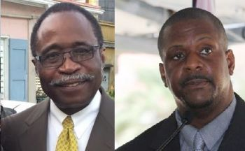 Opposition Leader Hon Julian Fraser RA (R3), left, and First District Representative Hon Andrew A. Fahie will go head to head on November 30, 2016 for the Chairmanship of the Virgin Islands Party. Photo: VINO/File