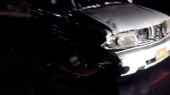 One of the badly damaged vehicles following the accident. Photo: Team of Reporters