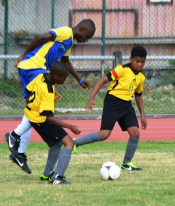 Action from the BVIFA's visit to St Maarten during Easter 2014. Photo: Provided