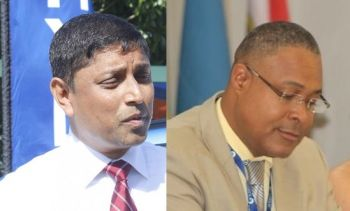 Neither the Corporation's General Manager Leroy A. E. Abraham, left, nor NAGICO Managing Director Shan Mohamed, right, could be reached for comments. Photo: VINO/File