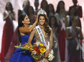 Miss France, 23-year-old dental student Iris Mittenaere, was crowned Miss Universe 2017. Photo: Rolex Dela Pena/EPA