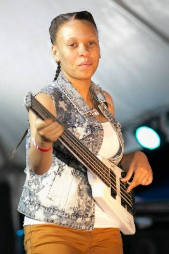 Thea Cooke heads off to Victor Wooten's Base camp which will commence on Monday July 22, 2013, compliments of her idol Divinity Roxx and Bayside Rhythms. Photo: Provided