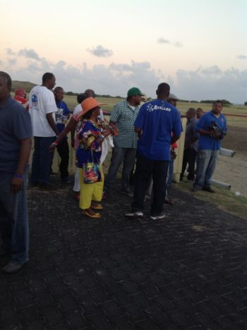 Scene from the Randall 'Doc' James racetrack in St Croix on February 16, 2014. Photo: Team of Reporters