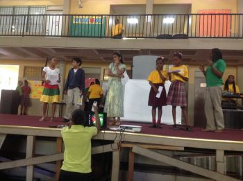 Scene from Commonwealth Day observance at the Althea Scatliffe Primary School on March 7, 2014. Photo: supplied