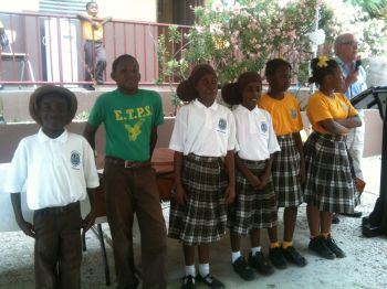 The parents, teachers and students of the Ebenezer Thomas Primary School praised and gave Kudos to the Virgin Islands Party Chairman Honourable Julian Fraser RA and Third District Representative for being there to support the school for the last 14 plus years. Photo: Team of Reporters
