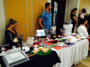 Scene from today's Hotel and Restaurant Trade Show held at Maria's by the Sea. Photo: supplied