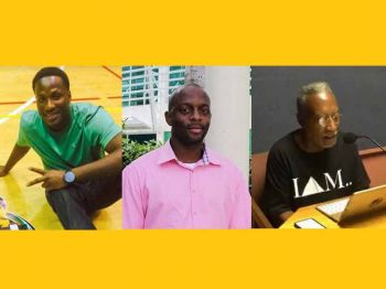Going up for the Vice President positions are, Jason A. Edwin, Norvel A. Young along with Businessman and Coach, Cromwell Smith aka 'Edju En Ka.' Photo: VINO/File/Facebook