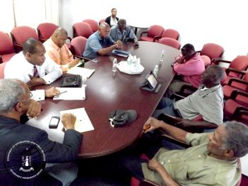 The Premier, along with, the Works Minister, met with ferry operators in July to ascertain the needs of the traveling public who use the ferry services and to discuss strategies for improving services to and from the Territory. Photo: GIS