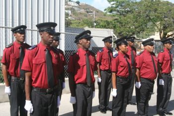 An Annual Inter-Organizational 'Drill Off' Competition was held among members the Royal Virgin Islands Police Force (RVIPF), the BVI Fire & Rescue Department, Her Majesty's Prison (HMP) and members of the Virgin Islands Cadet Corps (VICC) last Saturday, March 29, 2014 at the Caribbean Cellars Parking Lot in Lower Estate. Photo: VICC