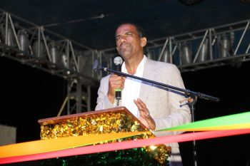 Deputy Premier and Minister for Natural Resources and Labour, Dr The Hon Kedrick D. Pickering (R7) said it is unthinkable that the East End Festival could ever be cut out. Photo: VINO
