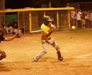 Batter up! Action from the game between Pirates and Power Outage. Photo: Andre 'Shadow' Dawson