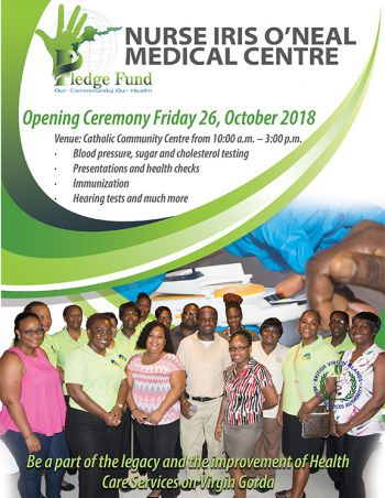 The launch will be held on Friday, October 26 with an opening ceremony and health fair on Virgin Gorda beginning at 10:00 a.m. Photo: Provided