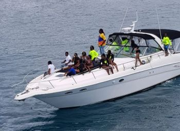 The run moved off from Leverick Bay this morning and will touch more stops in Virgin Gorda, at Foxy's Taboo, and at Foxy's Bar. Photo: Team of Reporters